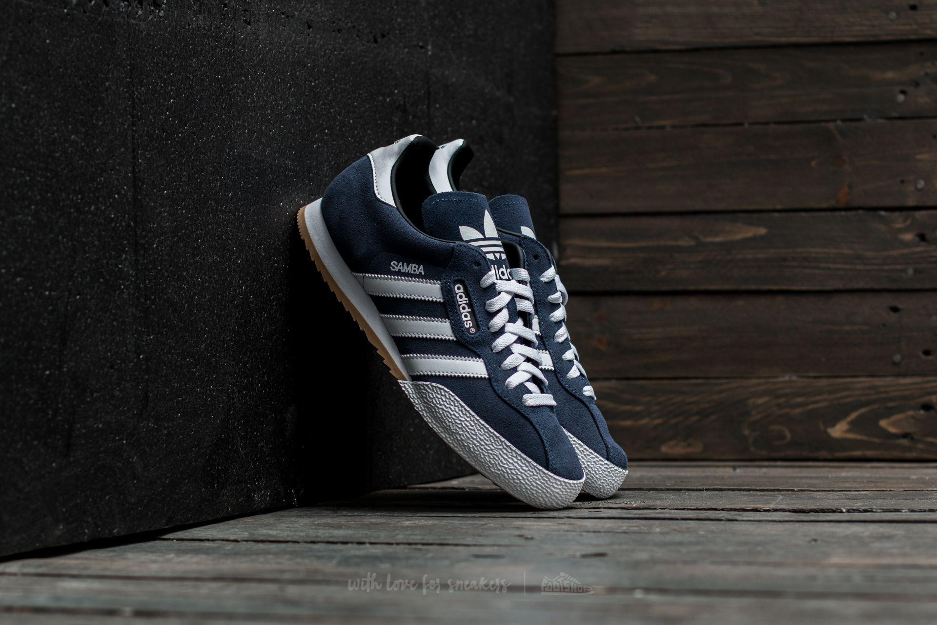 Adidas Samba Super Suede Navy/ Footwear White