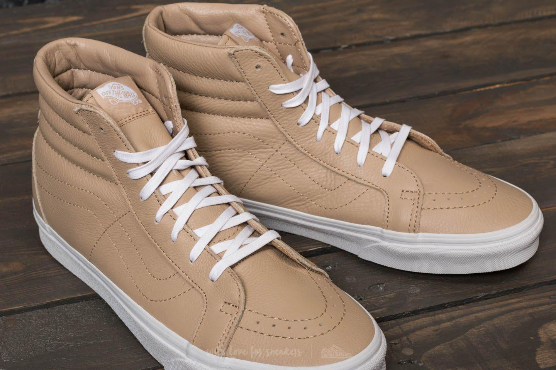 d60cab6ee2b6a Vans Multicolor Sk8-hi Reissue (leather) Sesame/ True White for men