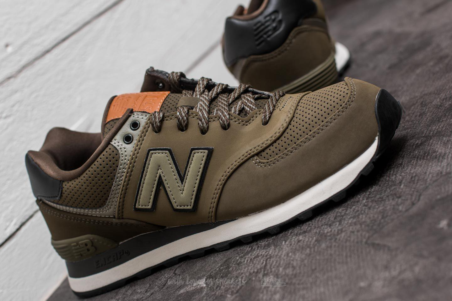 New Balance Rubber 574 Olive for Men - Lyst