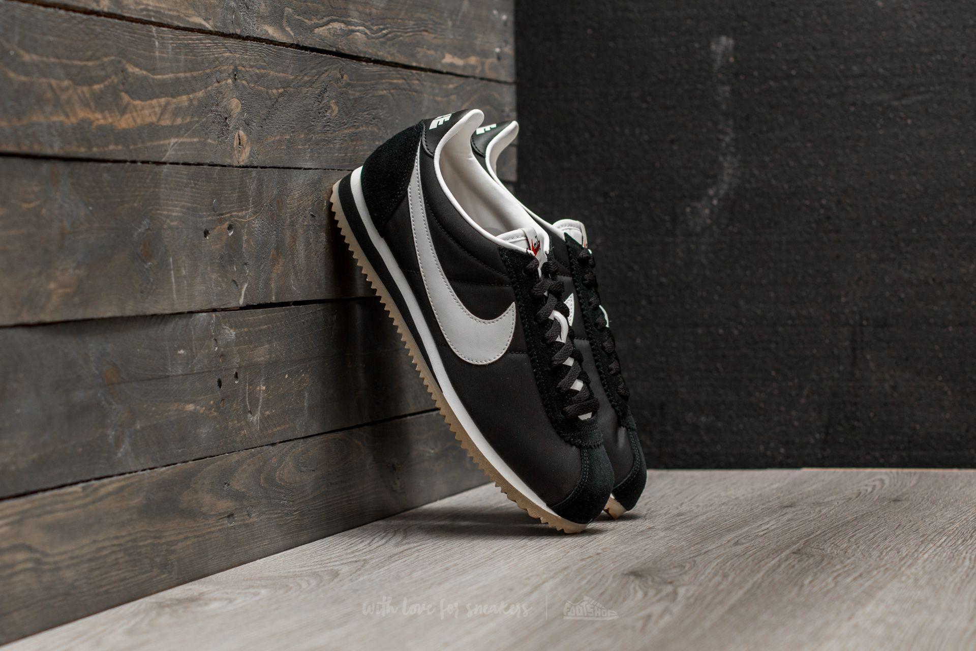 sports shoes 47309 3bf29 Nike Classic Cortez Nylon Premium Black  Sail-gum Light Brown in ...