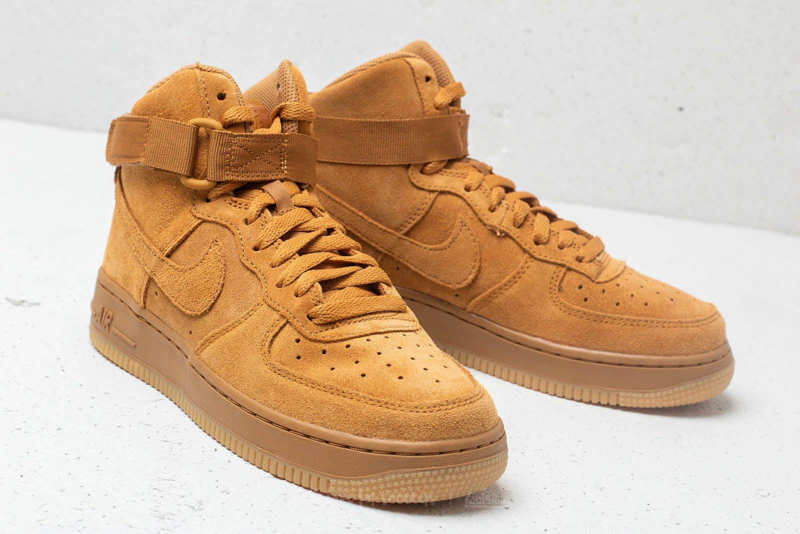 differently 3b3a6 04200 Nike Air Force 1 High Lv8 (gs) Wheat  Wheat-gum Light Brown in Brown ...