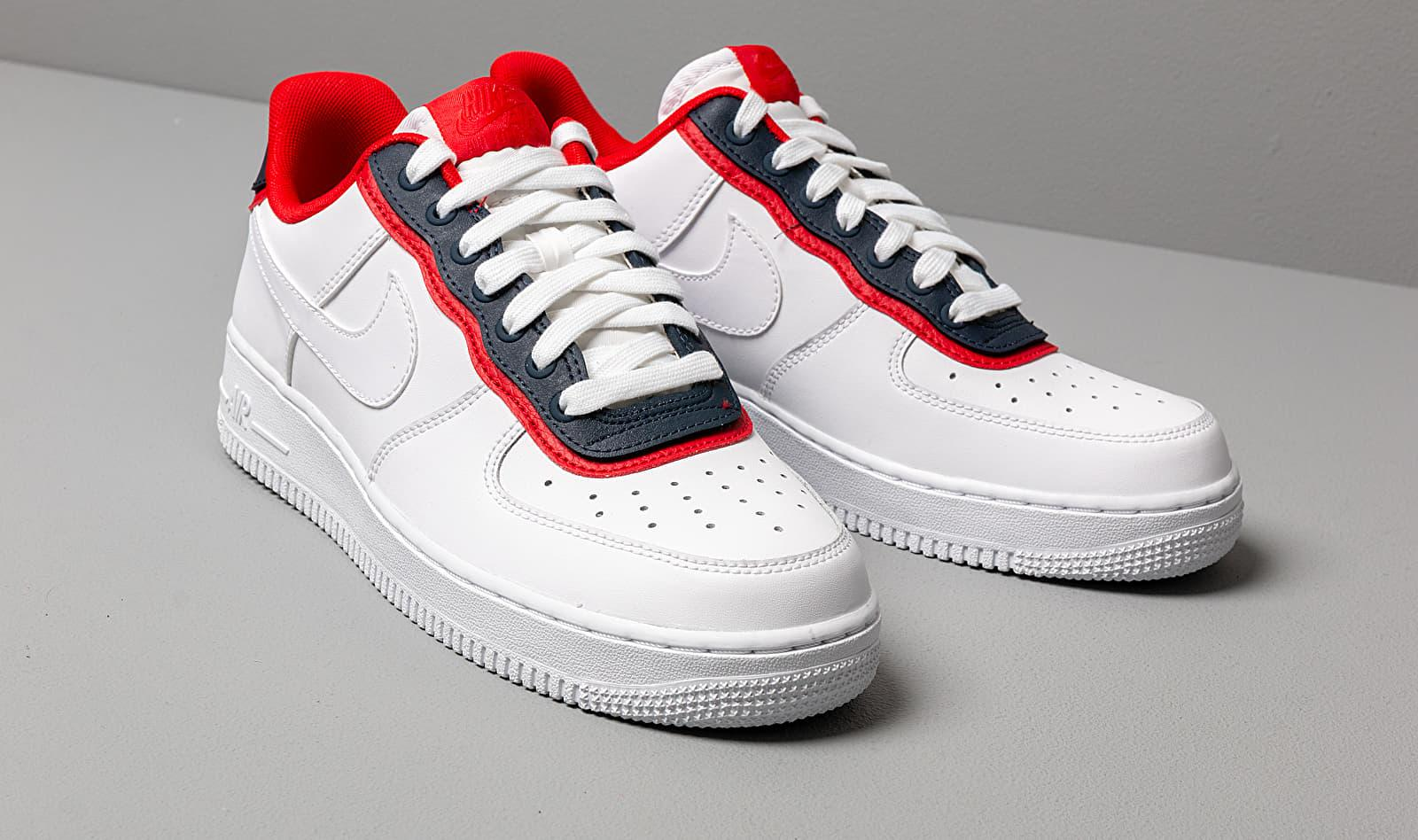 Nike Air Force 1 '07 Lv8 1 White/ White-obsidian-university Red ...