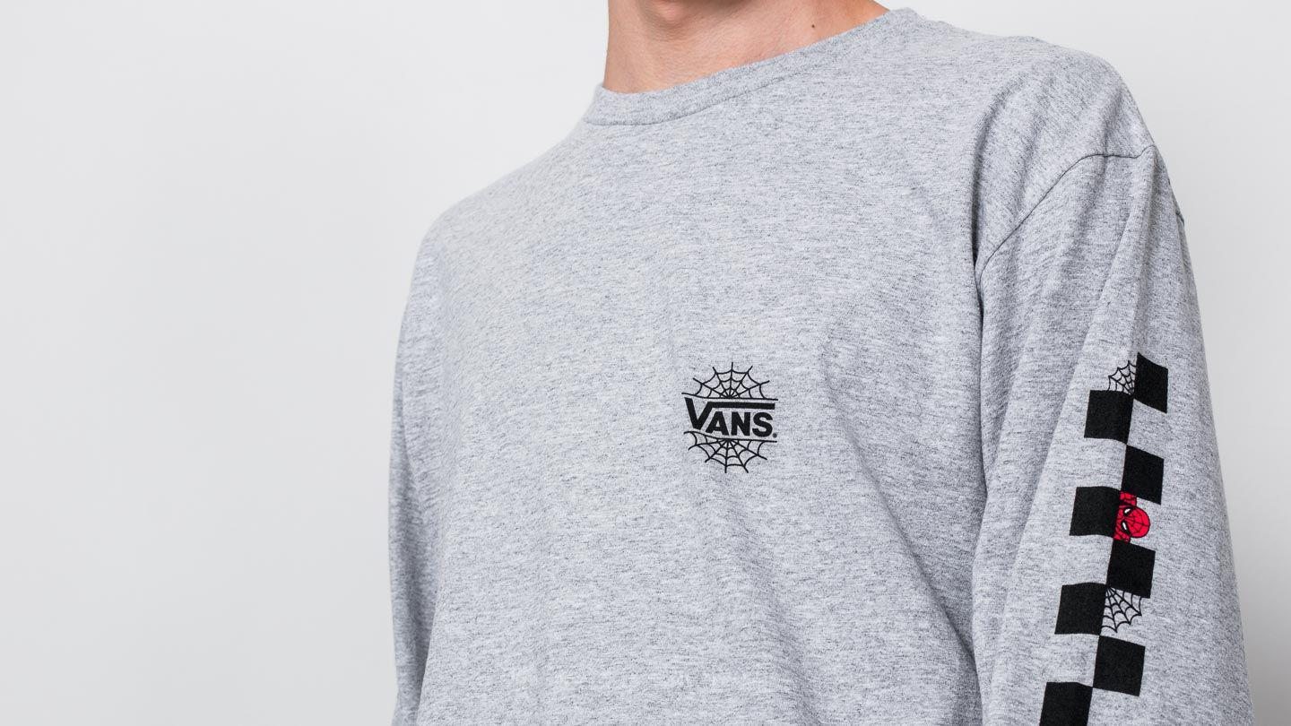 14b8e3162b1 Lyst - Vans Spider Man Longsleeve Tee (marvel) Athletic Grey in Gray ...
