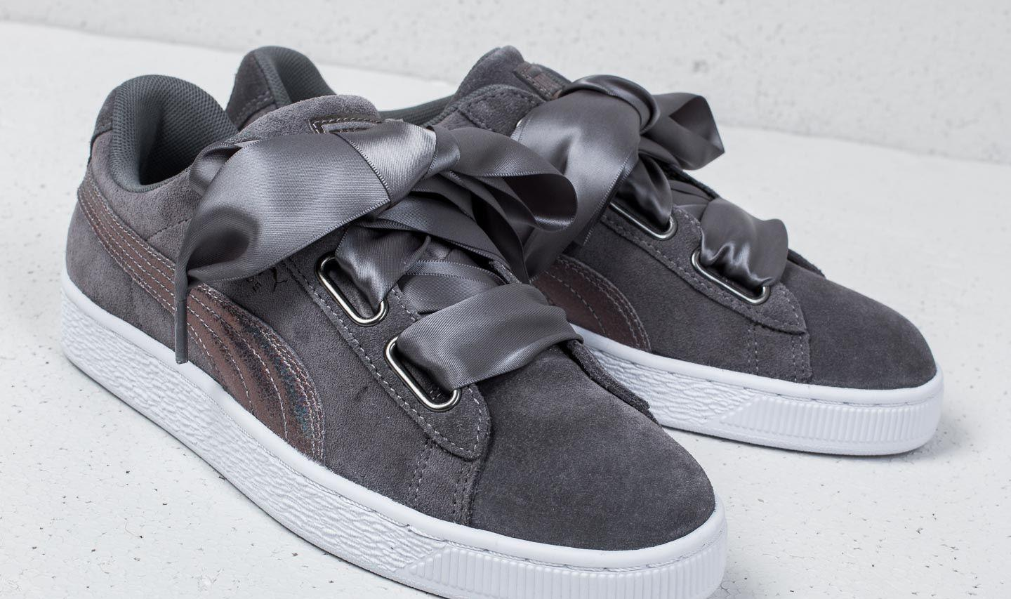 PUMA Suede Heart Lunalux Wn's Smoked Pearl in Grey (Gray) Lyst