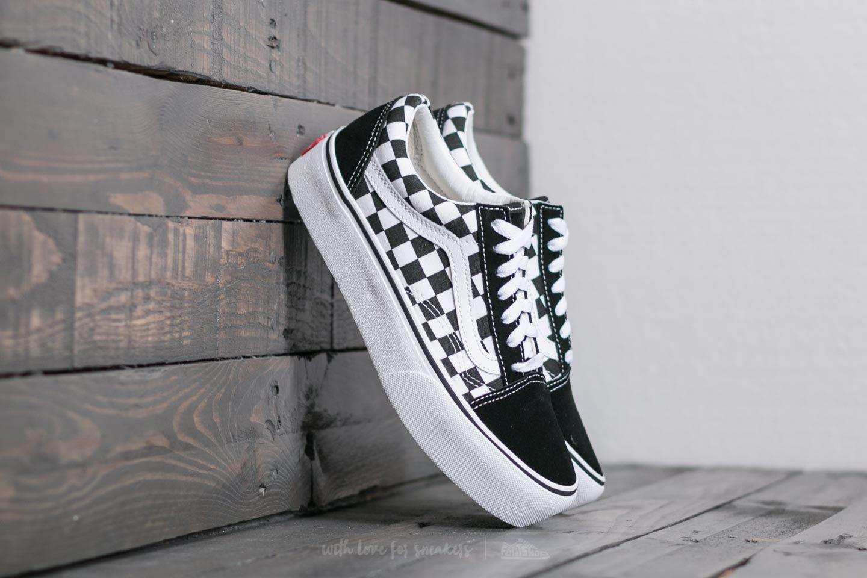 vans checkerboard platform shoes
