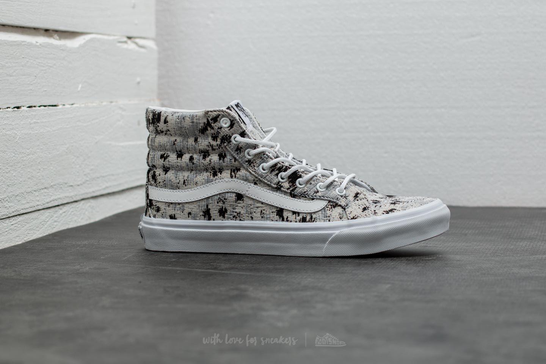 528ca89d43 Lyst - Vans Sk8-hi Slim (italian Weave) Abstract  True White