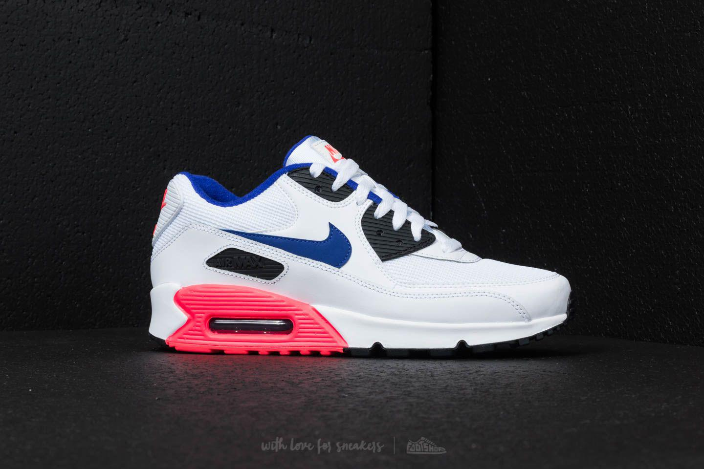 e30e49b681 Nike Air Max 90 Essential White/ Ultramarine/ Solar Red for Men - Lyst