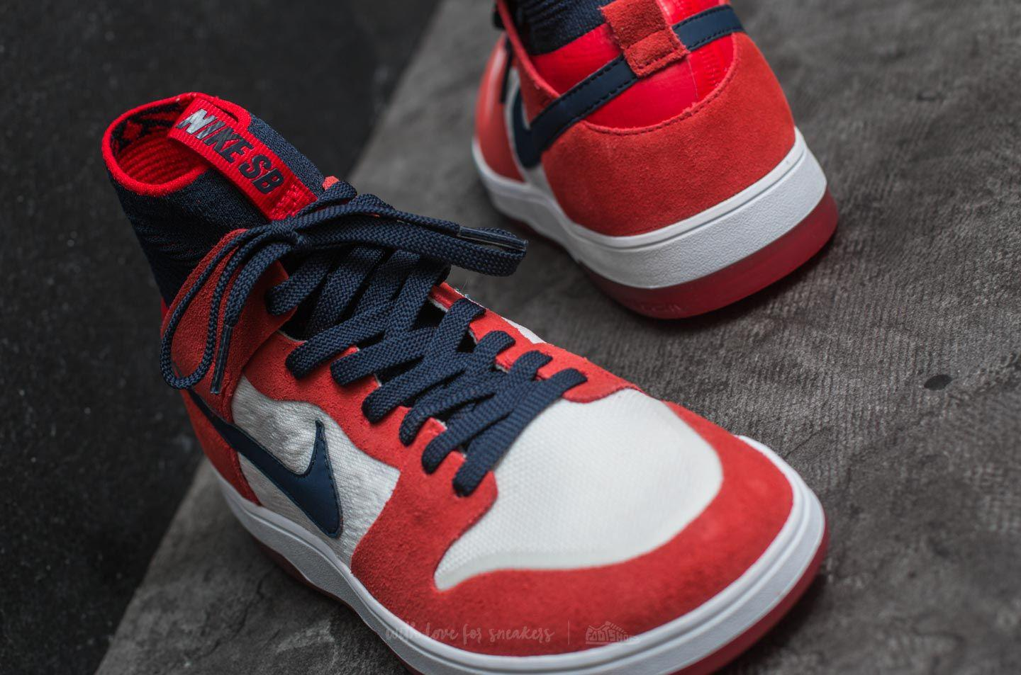 the latest e7f55 d86bc Nike Sb Zoom Dunk High Elite University Red  College Navy in Red for ...