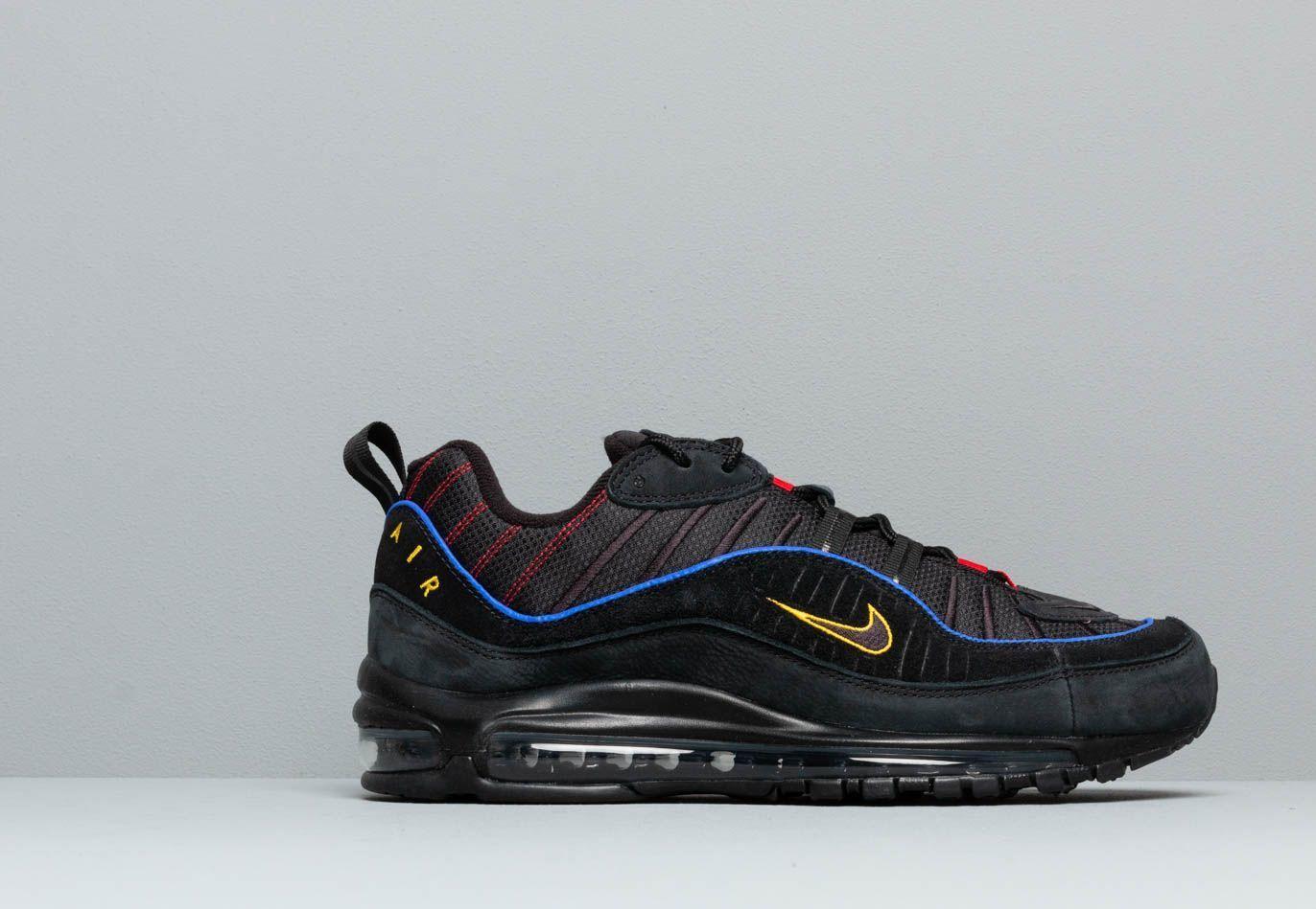 Air Max 98 Black/ Black-Amarillo-University Red Nike pour homme - Lyst
