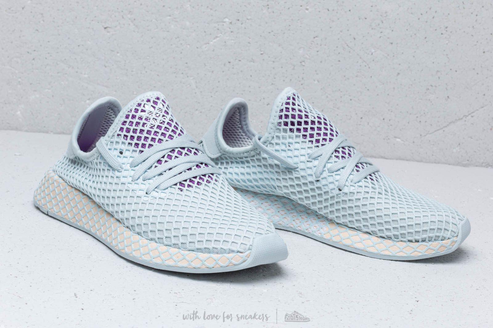 purple adidas deerupt