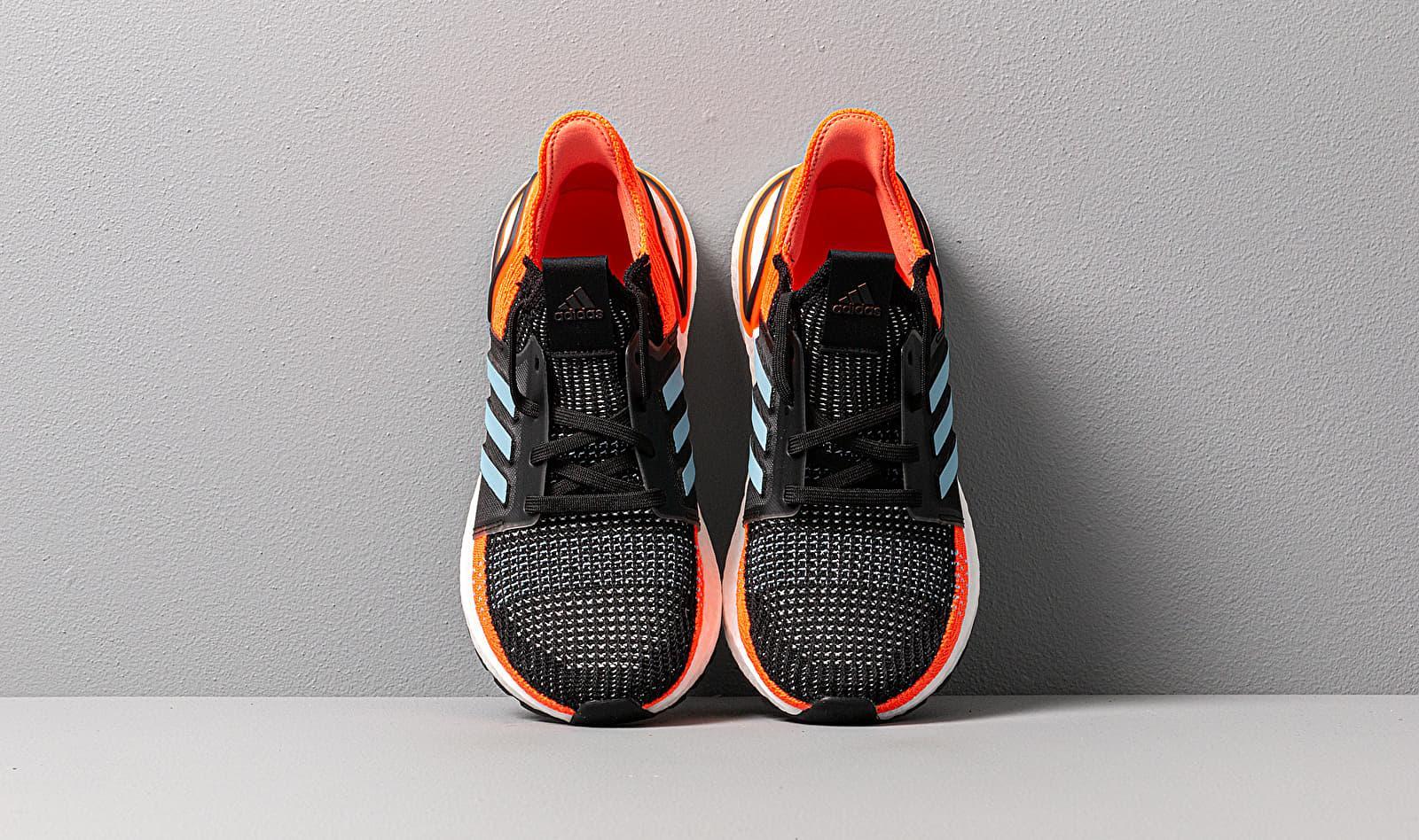 Adidas UltraBOOST 19 W Core Black/ Glow Blue/ Hi-Res Coral adidas Originals de color Naranja