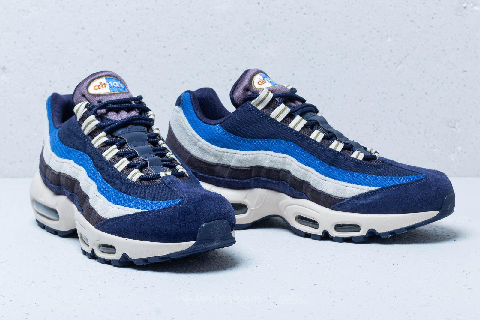 size 40 295dd 6f390 Nike Air Max 95 Premium Blackened Blue  Camper Green in Blue for Men ...