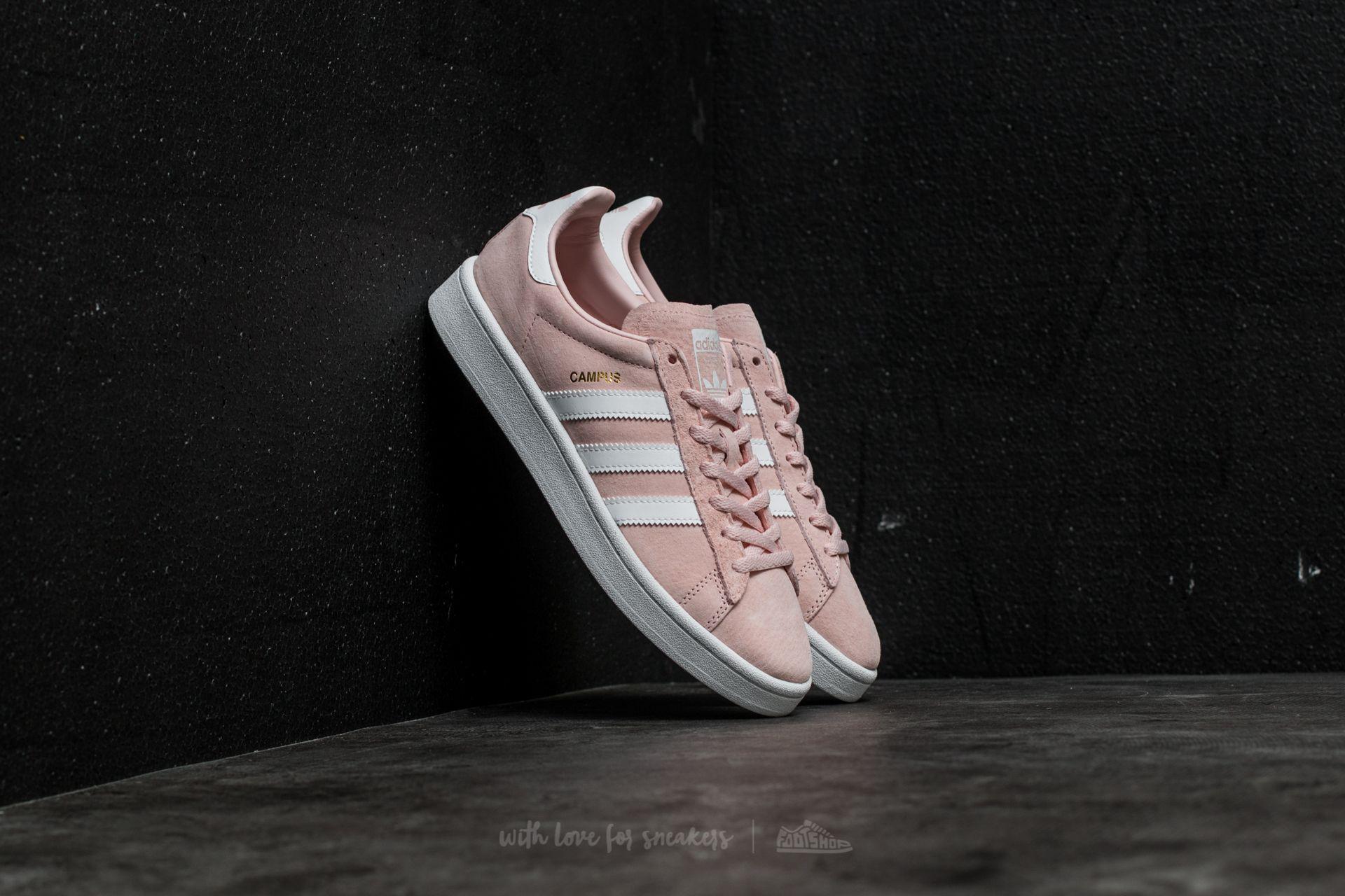 lyst adidas originali adidas campus w lcey rosa / ftw bianco