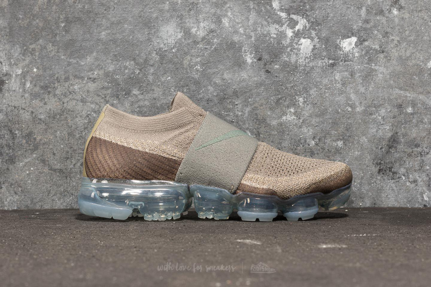 bd932db375b ... low cost lyst nike wmns air vapormax flyknit moc dark stucco clay green  in 190d0 f8887