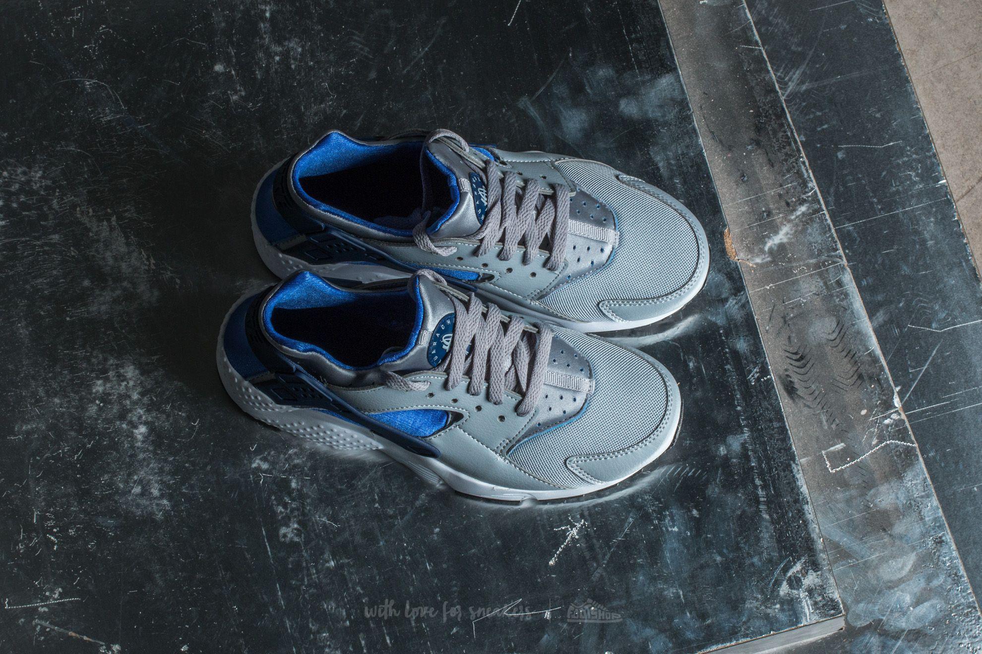 9ec7b0ff4cc1 Lyst - Nike Huarache Run (gs) Wolf Grey  Binary Blue in Blue for Men