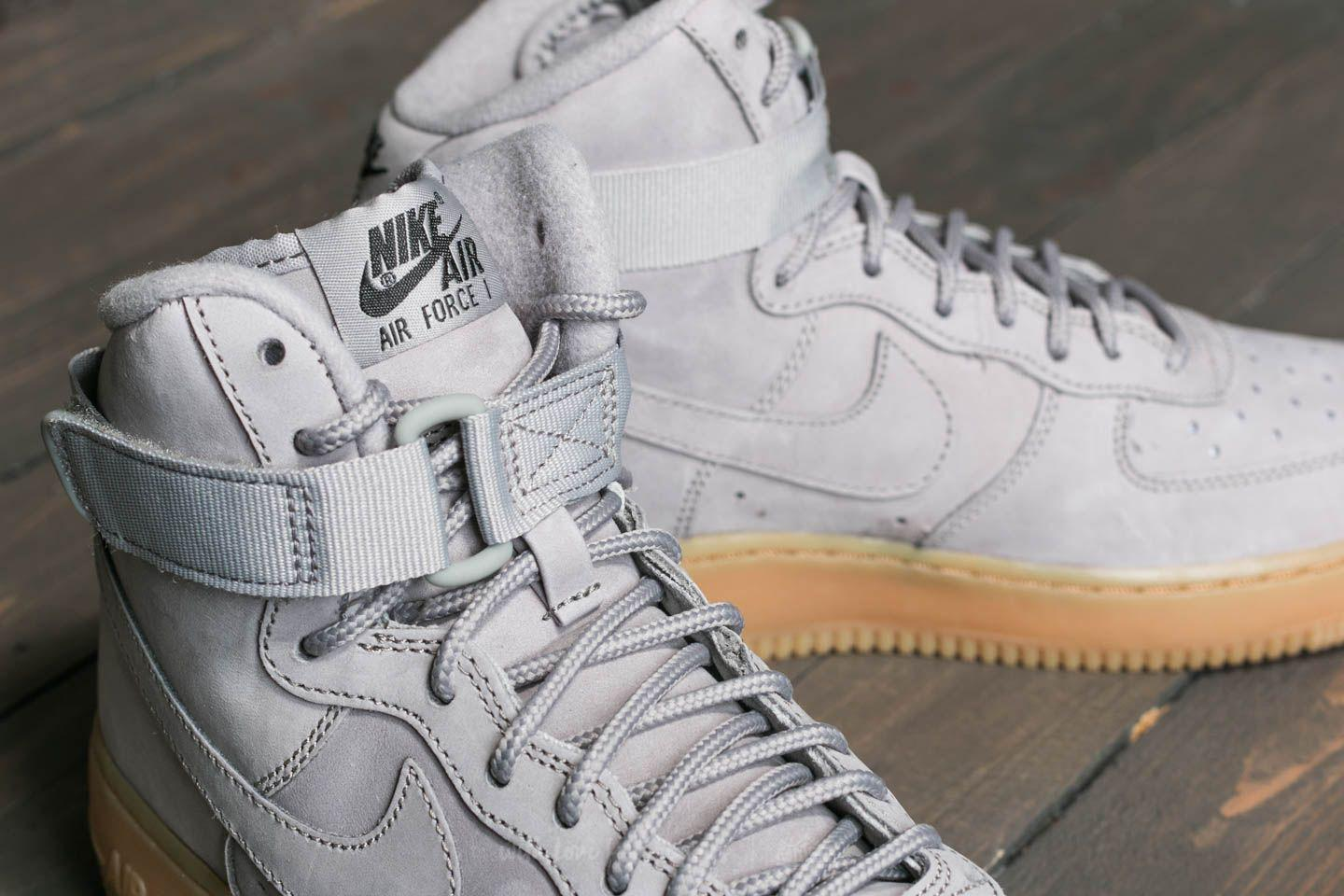 1a2b9407ced Lyst - Nike Air Force 1 High Wb (gs) Medium Grey  Medium Grey-black ...