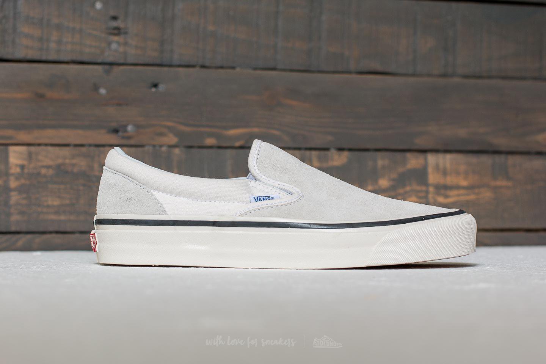 c8644d68f963 Lyst - Vans Classic Slip-on 98 (anaheim Factory) Suede  Og White for Men