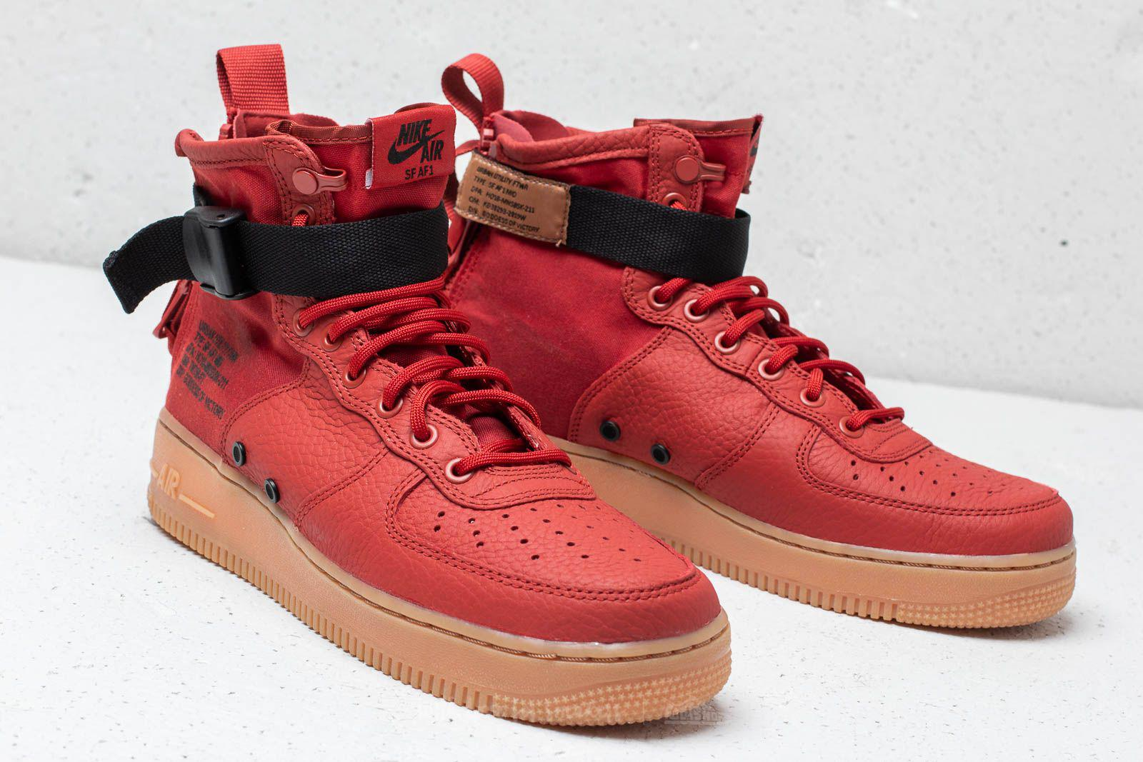 official photos 97a41 a3304 nike sf af1 red and black