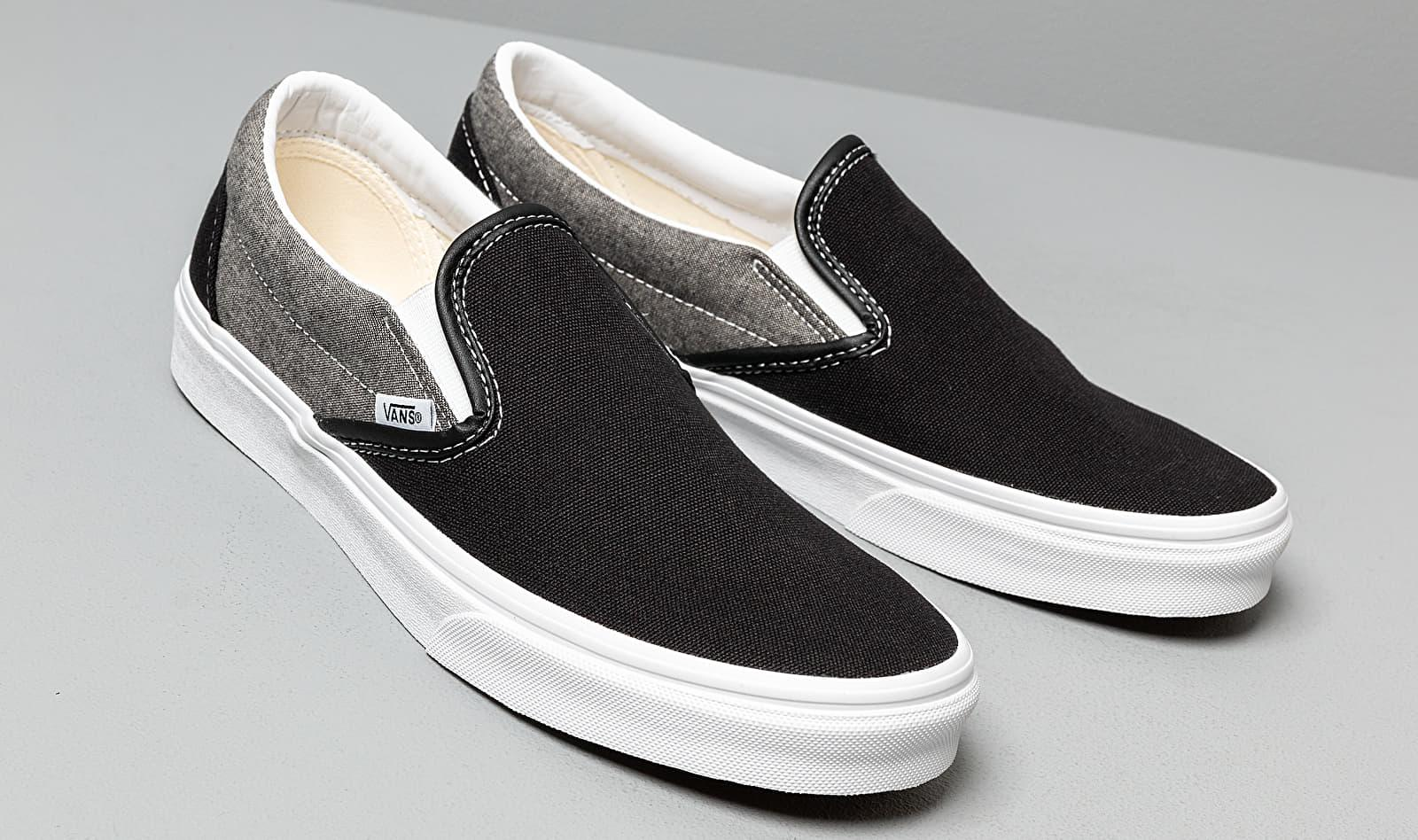 Classic Slip-On (Chambray) Canvas Black Vans