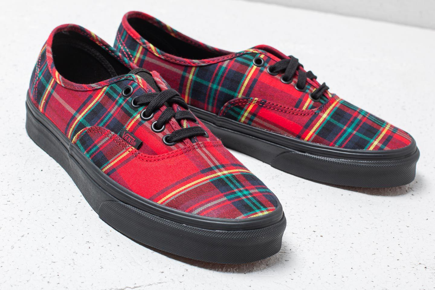 5817b80627 Lyst - Vans Authentic (plaid Mix) Red  Black in Red for Men