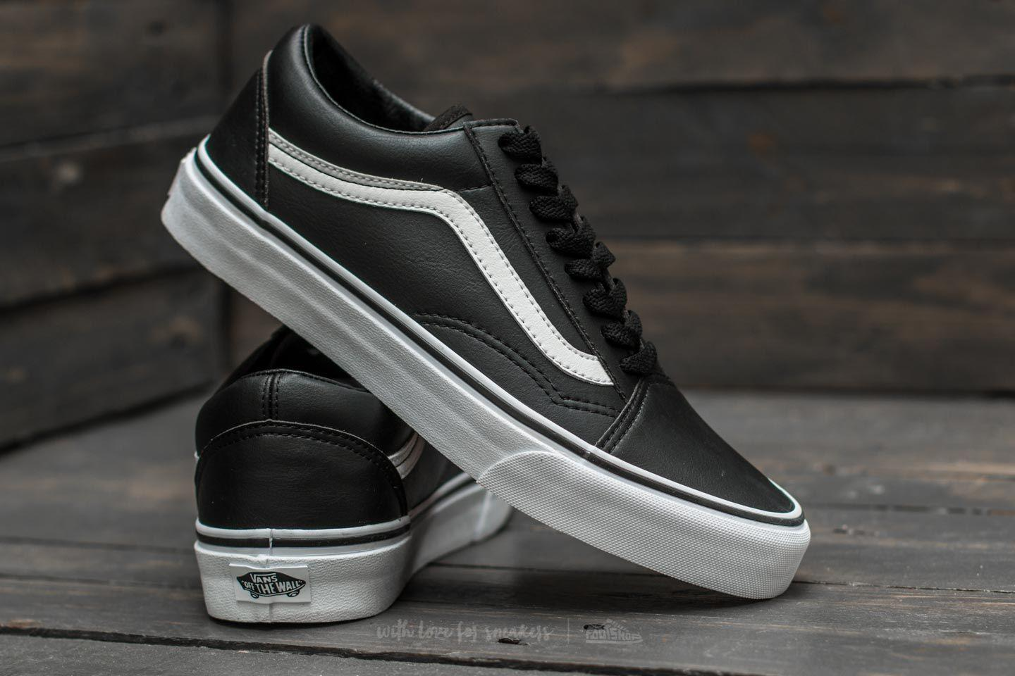 Vans Trainers Mens Old Skool Leather Classic Tumble Black