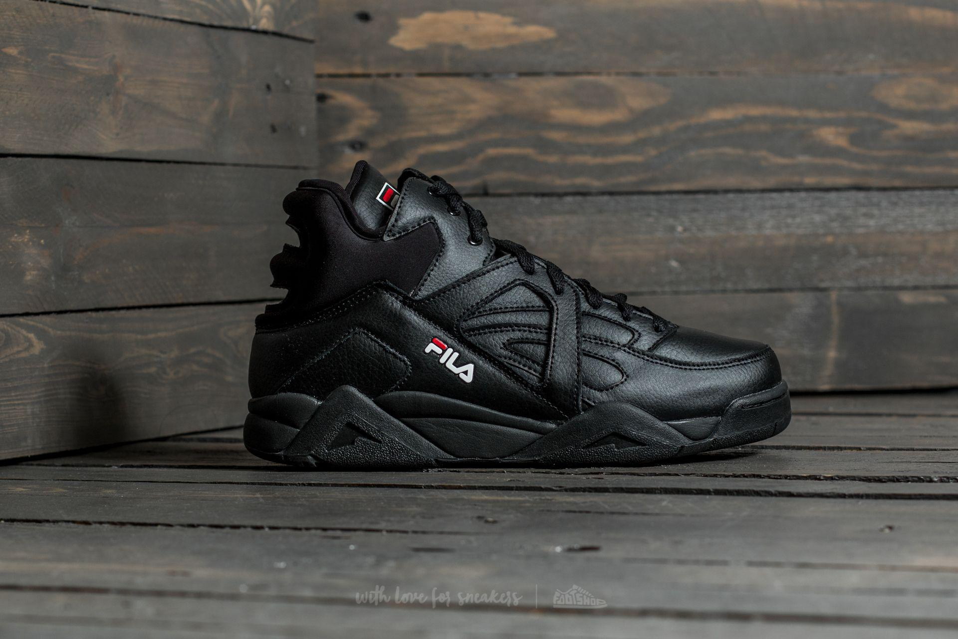 Fila Leather Cage L Mid Black - Lyst