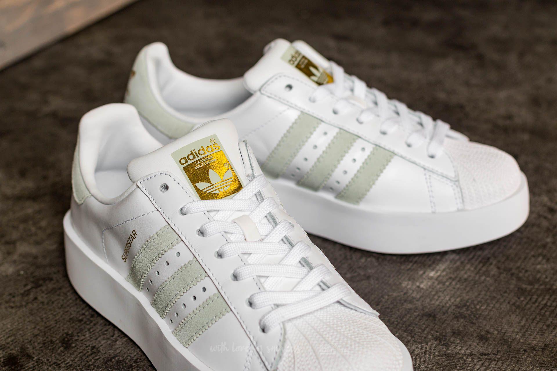 86ff633a9fd Lyst - adidas Originals Adidas Superstar Bold W Ftw White  Linen ...