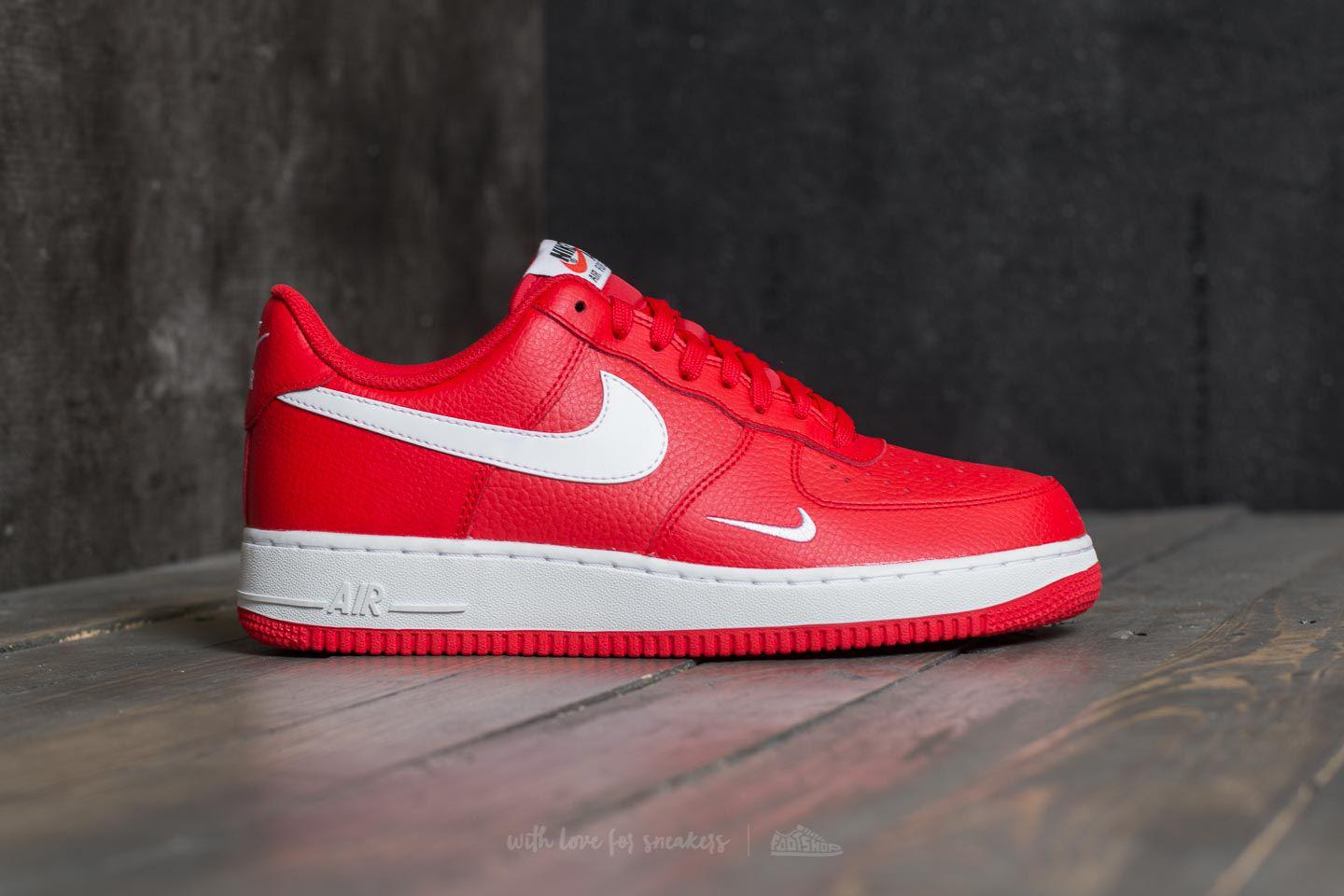 8f1224005137 Lyst - Nike Air Force 1 University Red  White-white in Red for Men