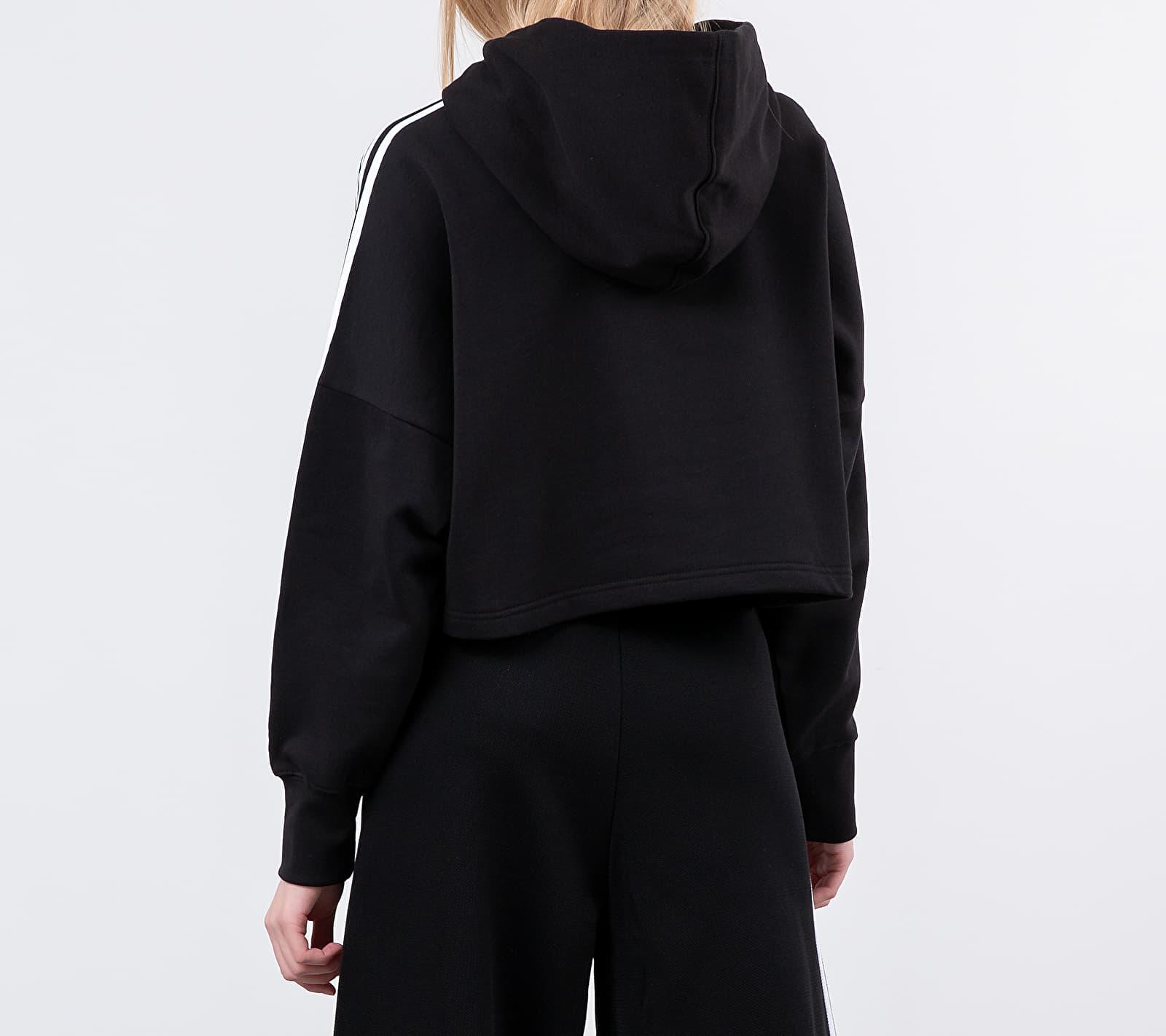 Adidas Cropped Hoodie Black en Coton adidas Originals