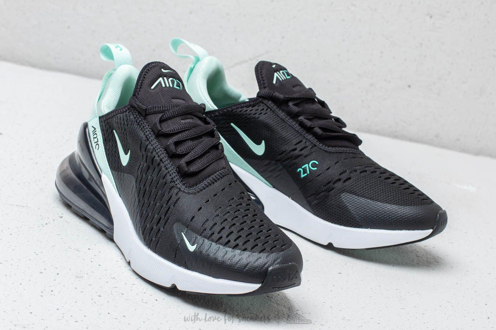 nike air max 270 black/hyper turquoise/white/igloo