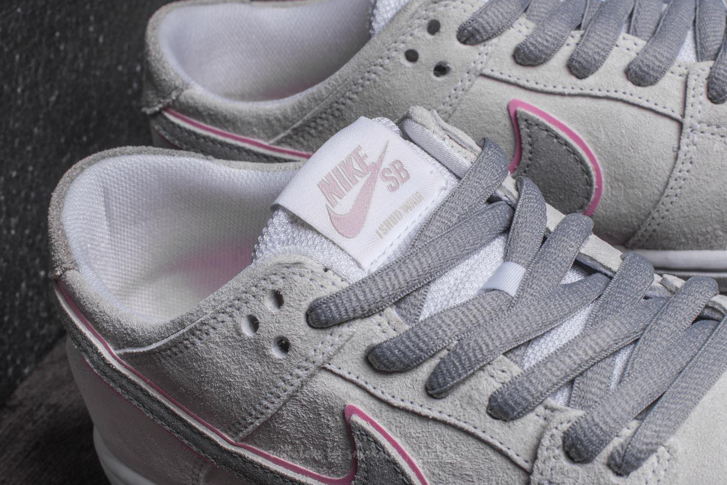 new concept e9a88 33a63 Lyst - Nike Sb Zoom Dunk Low Pro Iw White  Perfect Pink-flt Silver ...