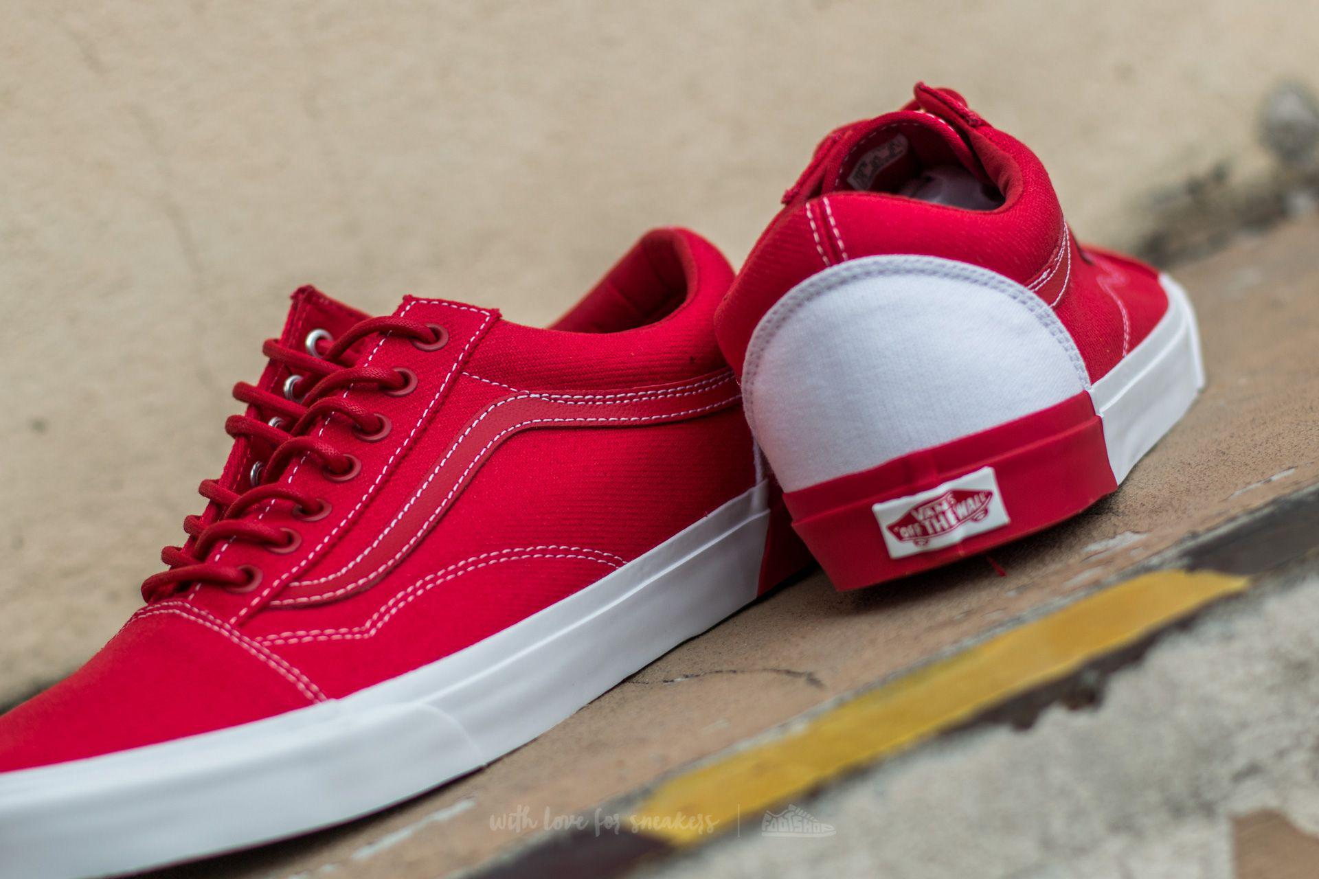 6f1b2fc914c Lyst - Vans Old Skool Dx (blocked) True White  Raci in Red for Men