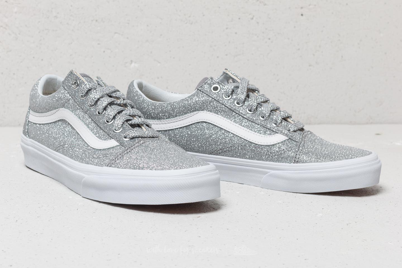32bea9d7b909 Lyst - Vans Old Skool (lurex Glitter) Silver  True White in Metallic