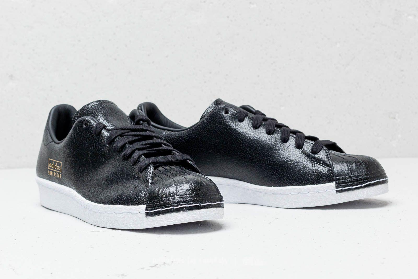 wholesale dealer 8807b 9bde9 Men's Adidas Superstar 80s Clean Core Black/ Core Black/ Ftw White
