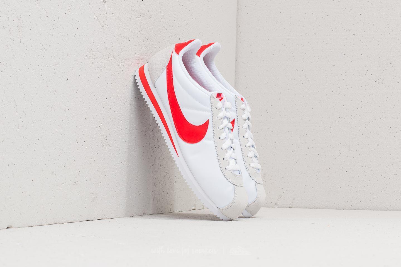 Classic Cortez Nylon White/ Habanero Red