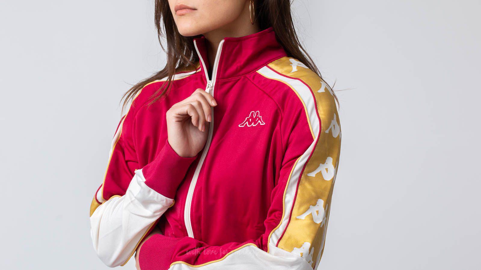 RED//White//Gold Kappa Banda Anay Women Track Jacket