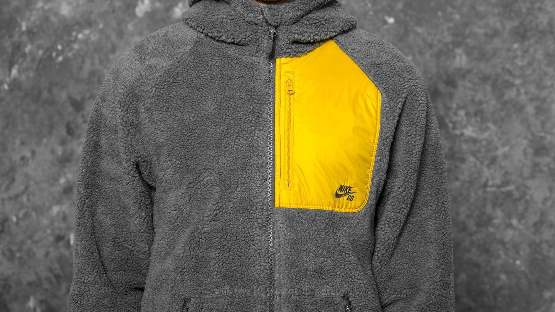 Nike SB Everett Sherpa Zipped Hoodie, L AnthraciteMineral Gold
