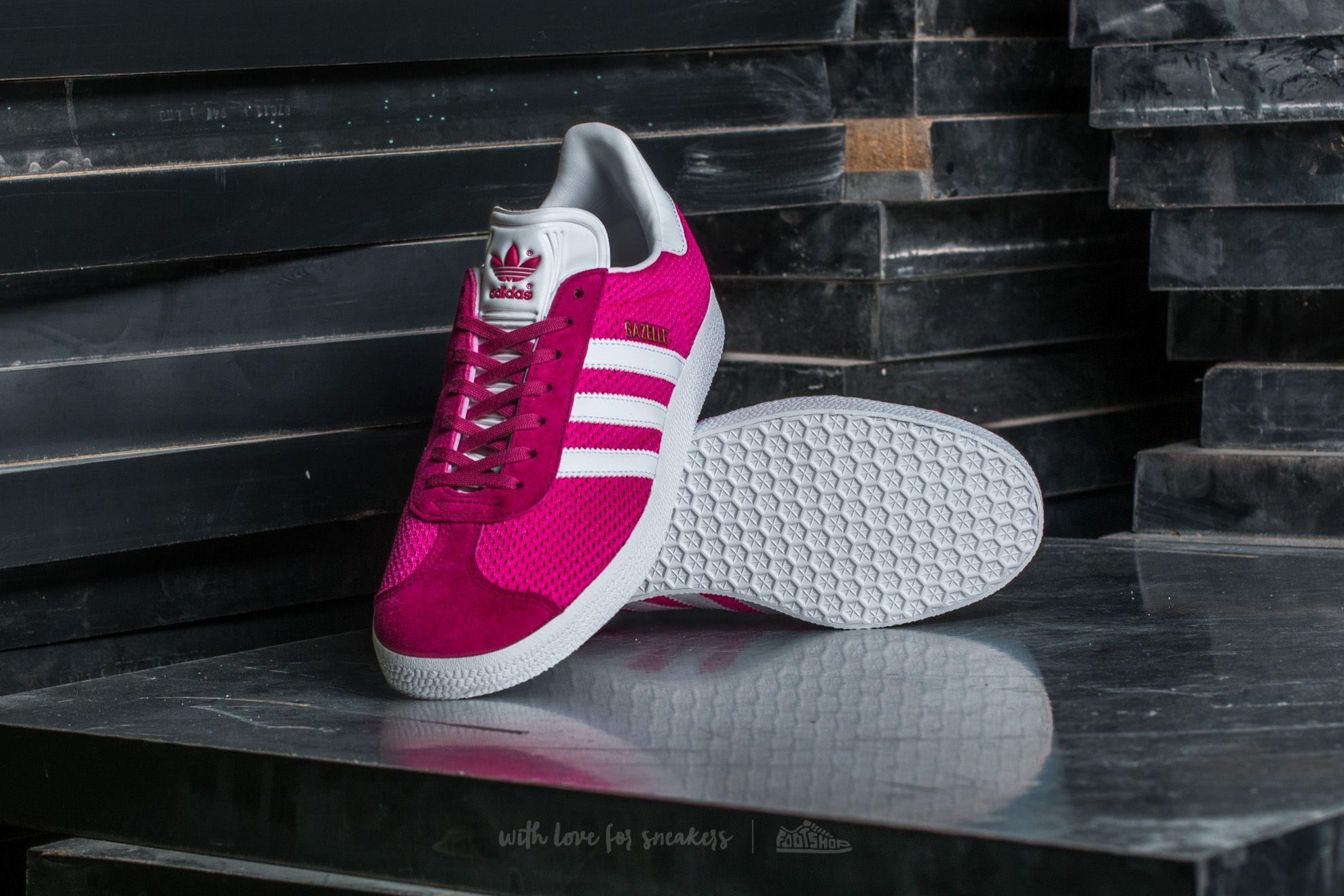 Adidas Originals Adidas Gazelle Shock Pink Ftw White