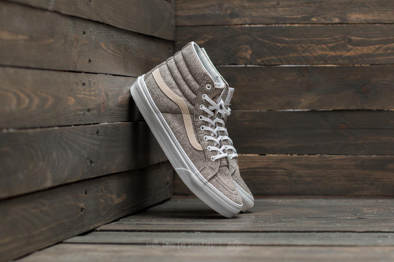 10b9acb0fb Lyst - Vans Sk8-hi Slim (j s) Frost Gray  True White in Gray
