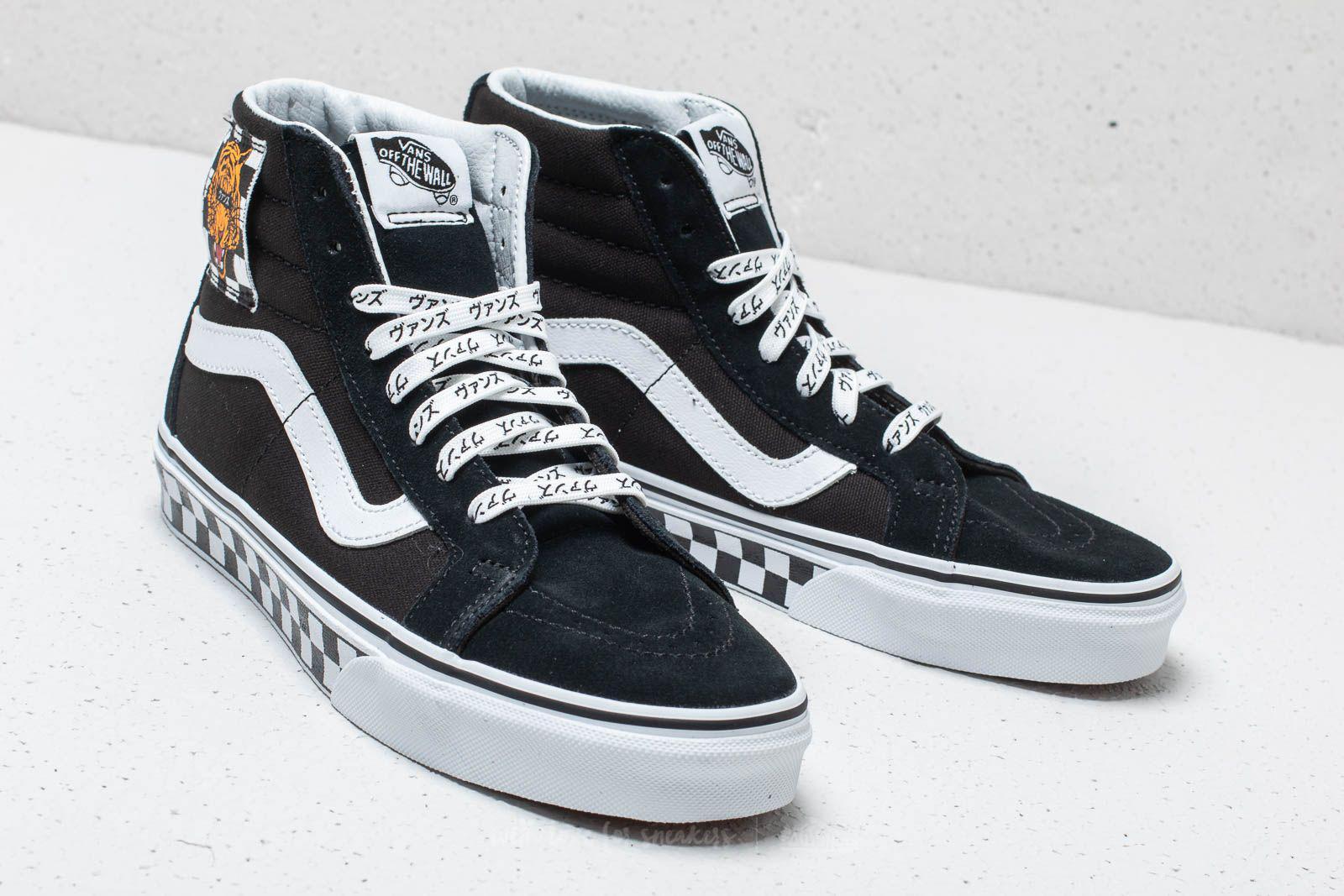 af421e543f Lyst - Vans (tiger Check) Sk8-hi Reissue Black  True White in Black ...