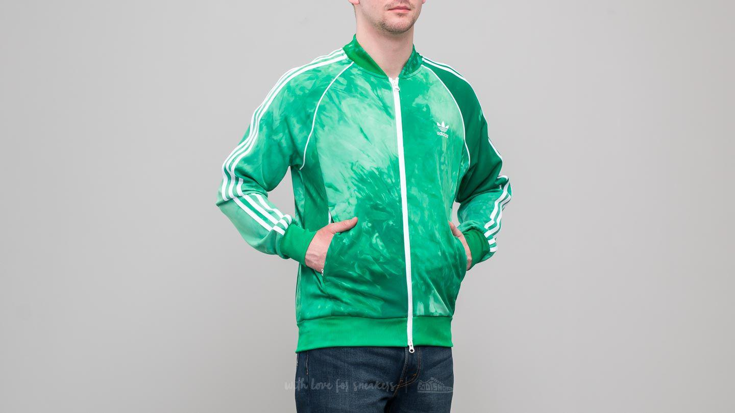 Men's Adidas X Pharrell Williams Hu Holi Superstar Track Top Green