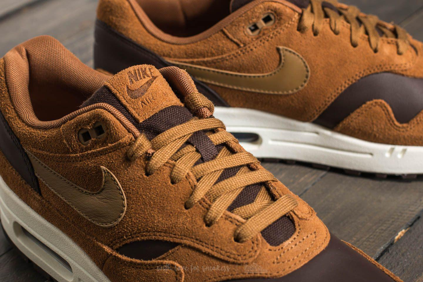 25113dfbf5 ... usa lyst nike air max 1 premium leather ale brown golde beige in 9669e  9221c