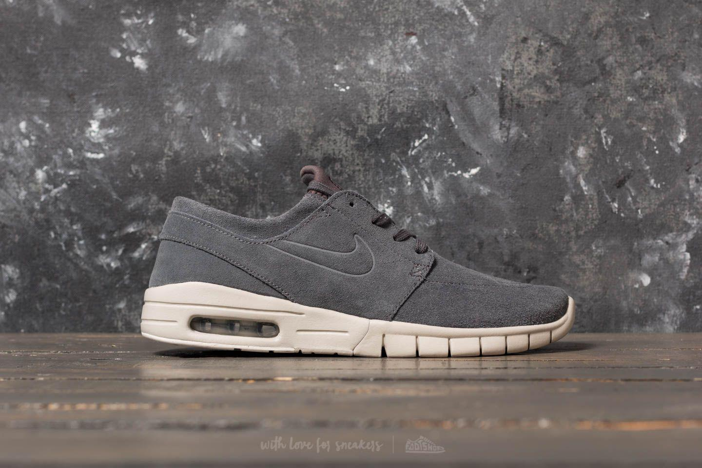 Lyst - Nike Stefan Janoski Max L Dark Grey  Dark Grey-light Bone in ... e684822b6