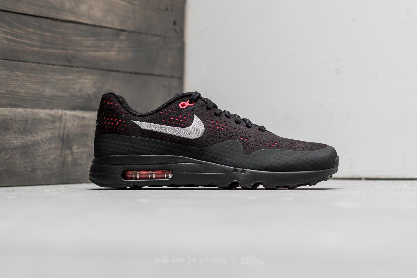 info for eaef2 3e94c Nike Air Max 1 Ultra 2.0 Moire Black  Wolf Grey-solar Red for Men - Lyst