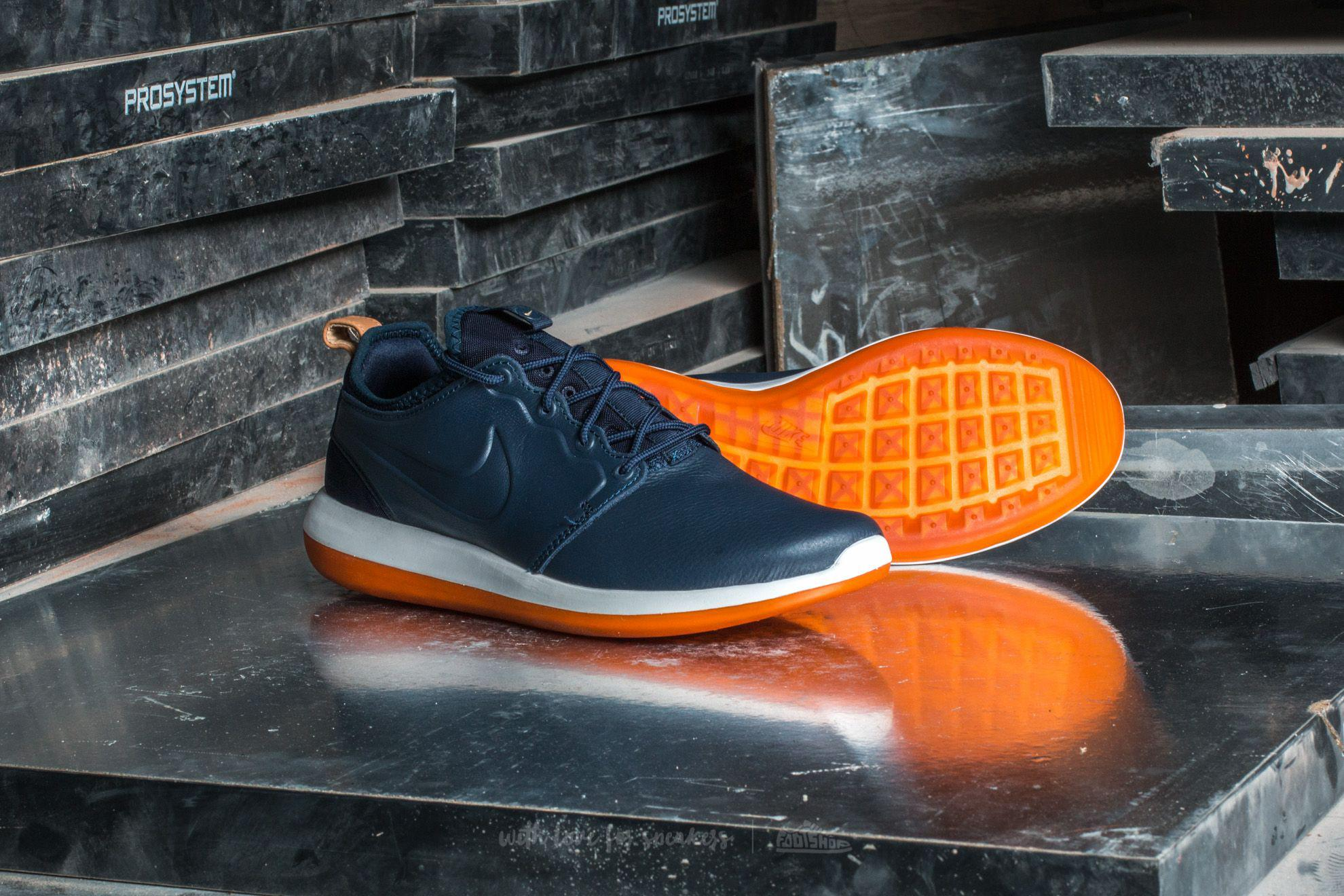 840cf0044670 Lyst - Nike Roshe Two Leather Premium Obsidian  Obsidian-white in ...
