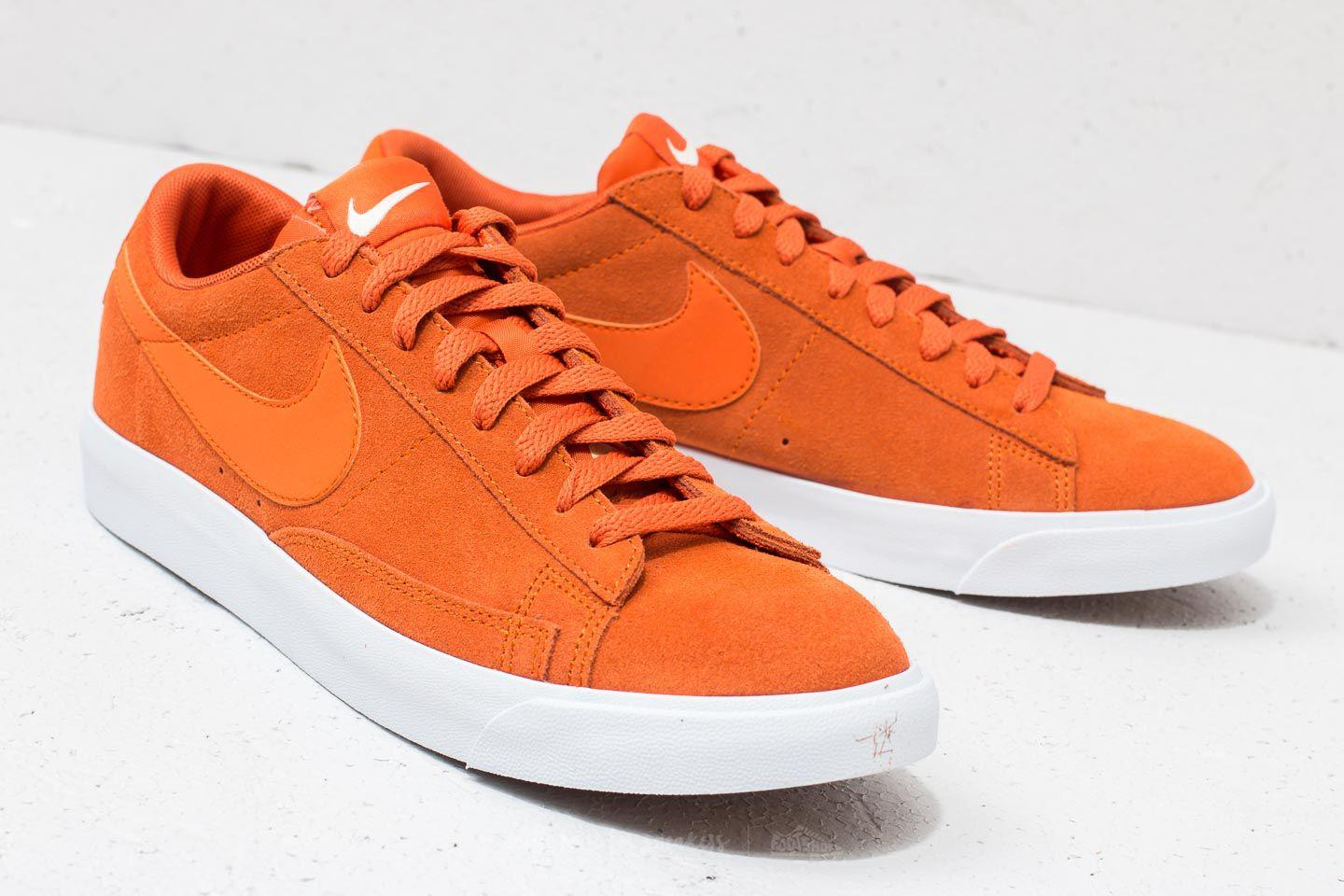 newest 282b6 8a692 ... inexpensive nike blazer low suede campfire orange for men lyst. view  fullscreen 01dd2 90557