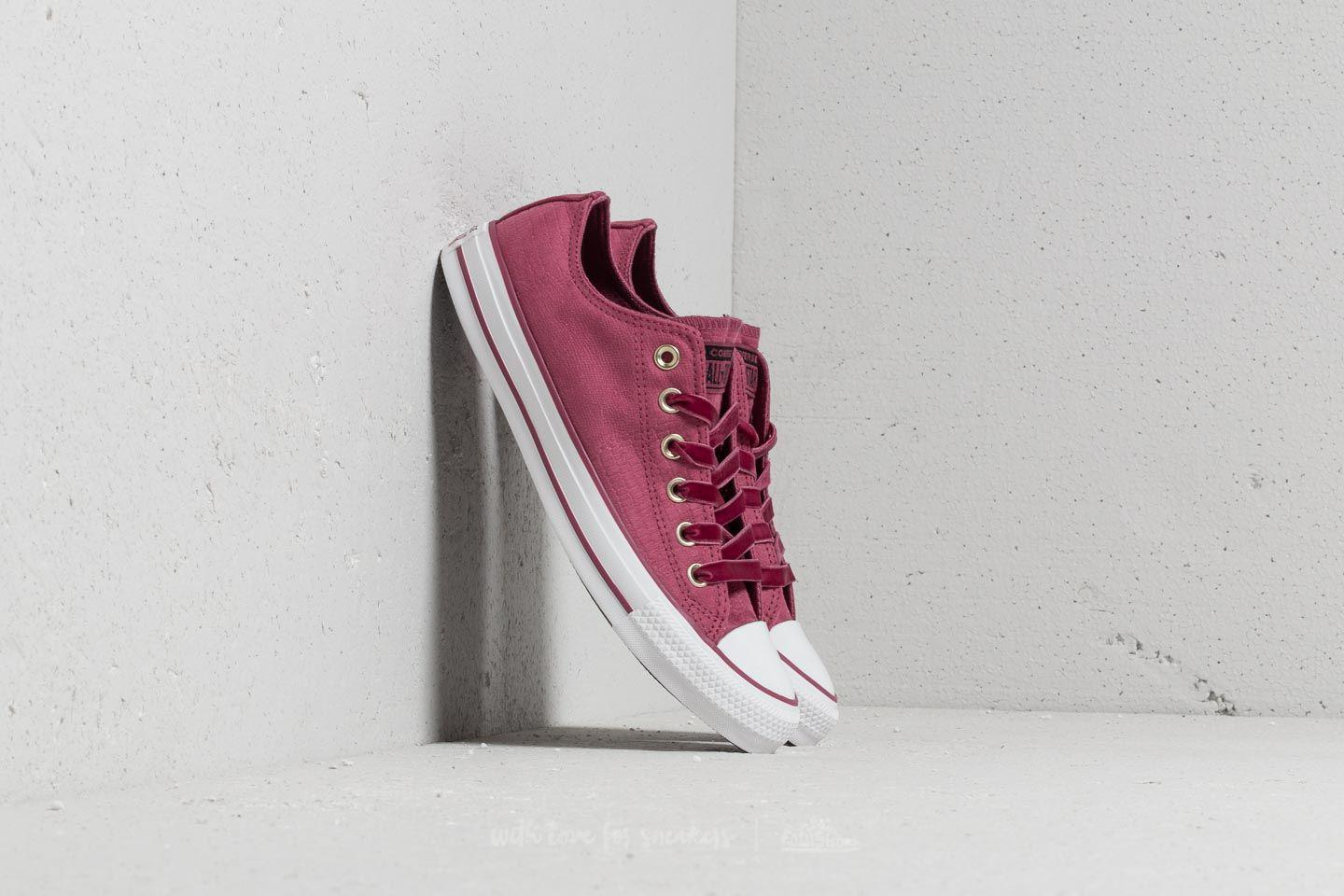 753450e61b7d Lyst - Converse Chuck Taylor All Star Ox Vintage Wine  Vintage Wine