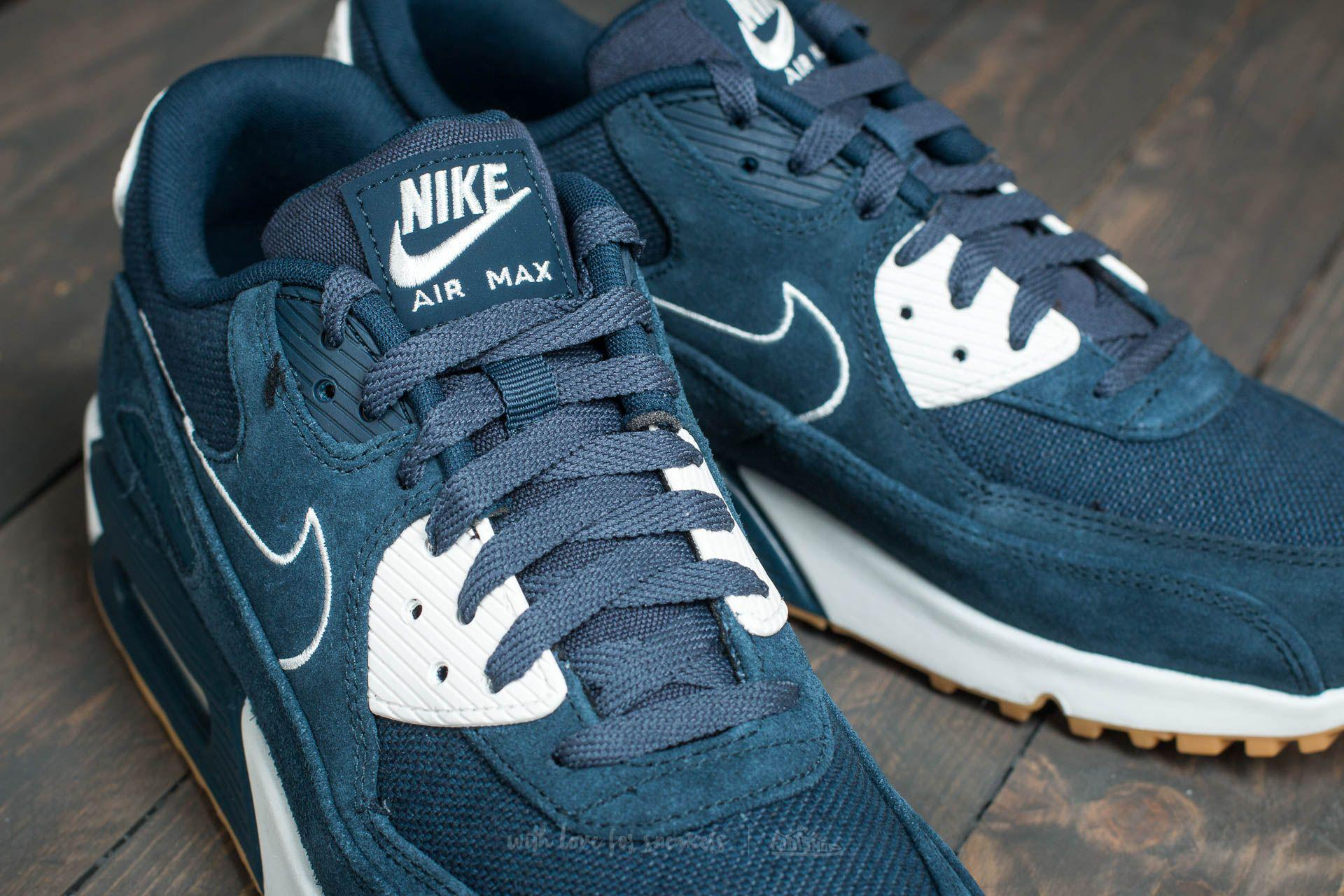 new product c5092 6fdd4 Men's Blue Air Max 90 Premium Armory Navy/ Armory Navy-sail