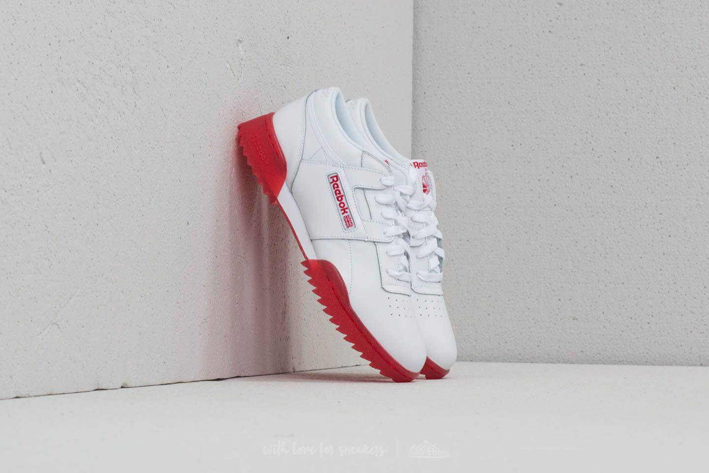 988a34a9d3c Reebok Reebok Workout Clean Ripple Ice White/ Primal Red-ice for men