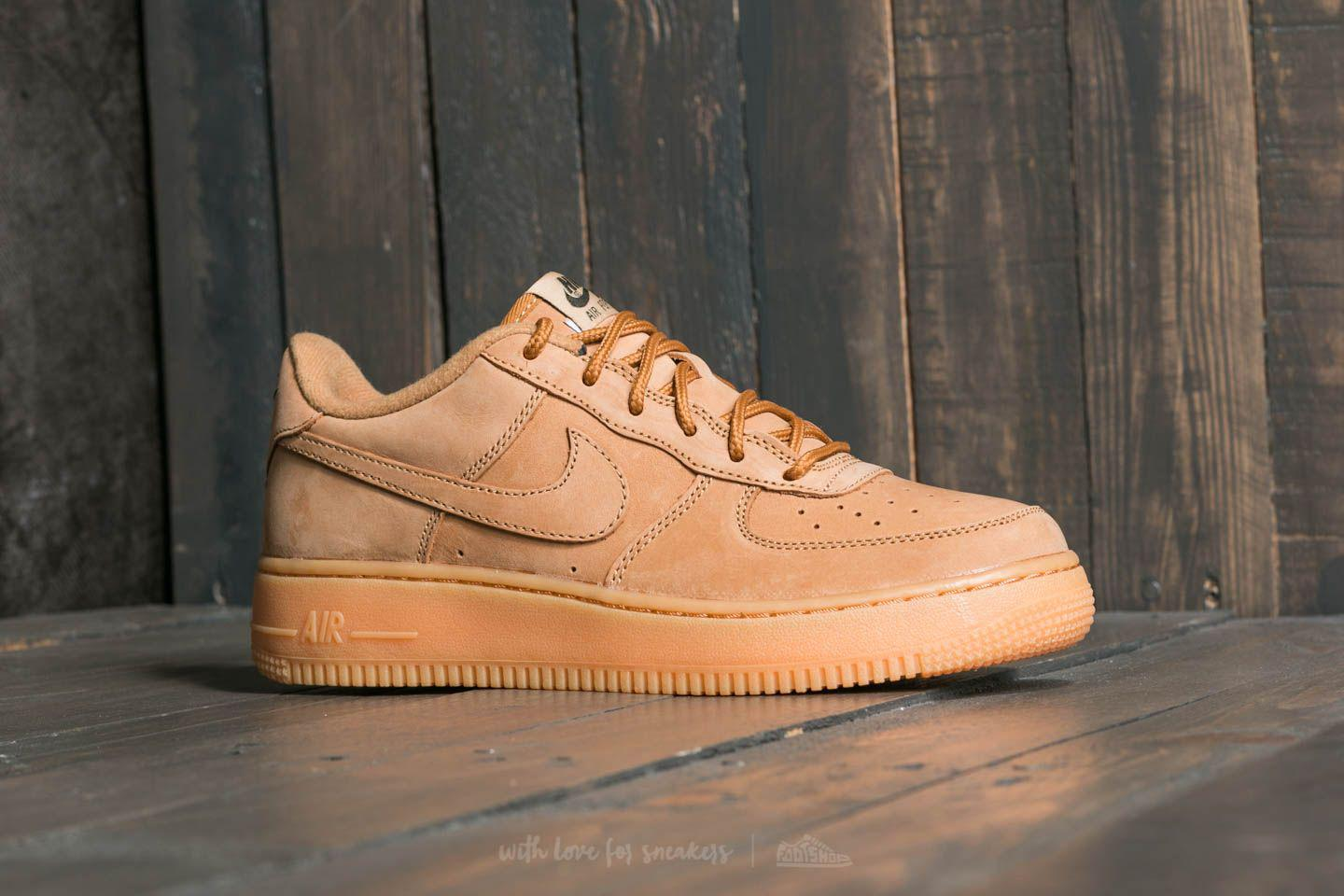 Nike Multicolor Air Force 1 Winter Premium Gs Flax Flax outdoor Green